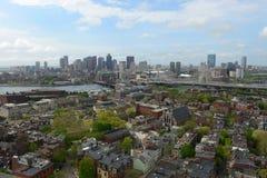 Horizonte de Boston, Massachusetts, los E Fotografía de archivo libre de regalías