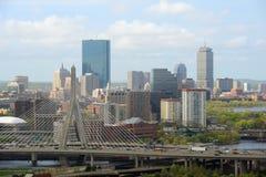 Horizonte de Boston, Massachusetts, los E fotografía de archivo
