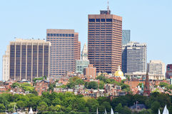 Horizonte de Boston, Massachusetts, los E.E.U.U. Foto de archivo libre de regalías