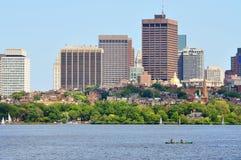 Horizonte de Boston, Massachusetts, los E.E.U.U. Fotografía de archivo libre de regalías