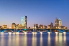 Horizonte de Boston, Massachusetts, los E.E.U.U. en Charles River foto de archivo libre de regalías