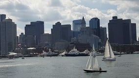 Horizonte de Boston y distrito financiero metrajes