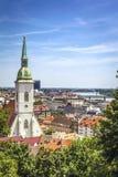 Horizonte de Bratislava fotos de archivo libres de regalías