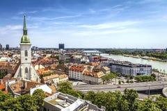 Horizonte de Bratislava Fotografía de archivo