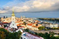 Horizonte de Bratislava, Eslovaquia Imagen de archivo libre de regalías