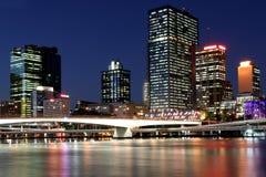 Horizonte de Brisbane. Imagen de archivo libre de regalías