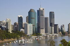 Horizonte de Brisbane Fotografía de archivo libre de regalías