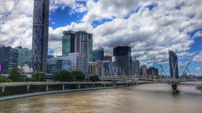 Horizonte de Brisbane imagenes de archivo