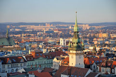 Horizonte de Brno fotos de archivo libres de regalías