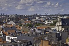 Horizonte de Bruselas Fotografía de archivo