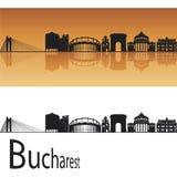 Horizonte de Bucarest ilustración del vector