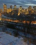 Horizonte de Calgary fotografía de archivo libre de regalías