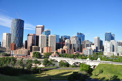 Horizonte de Calgary fotos de archivo