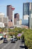 Horizonte de Calgary imagen de archivo