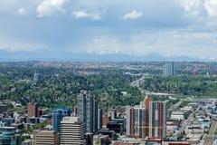 Horizonte de Calgary Foto de archivo
