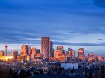 Horizonte de Calgary foto de archivo libre de regalías