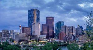 Horizonte de Calgary Imagen de archivo libre de regalías