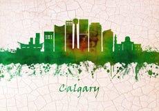Horizonte de Calgary Canad? stock de ilustración