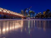 Horizonte de Calgary en invierno fotografía de archivo