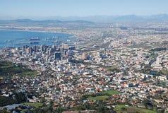 Horizonte de Cape Town fotos de archivo