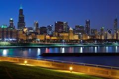 Horizonte de Chicago. imágenes de archivo libres de regalías