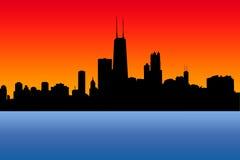Horizonte de Chicago stock de ilustración