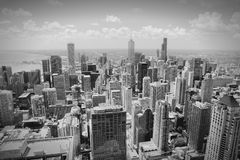 Horizonte de Chicago imagenes de archivo