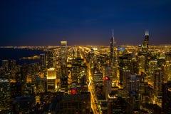 Horizonte de Chicago Foto de archivo libre de regalías