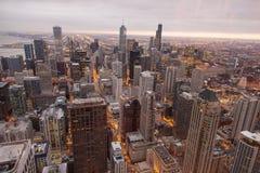 Horizonte de Chicago de la torre de hancock imágenes de archivo libres de regalías