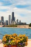 Horizonte de Chicago del embarcadero de la marina Fotografía de archivo