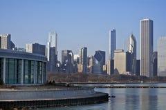 Horizonte de Chicago del este Foto de archivo libre de regalías
