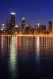 Horizonte de Chicago del norte imágenes de archivo libres de regalías