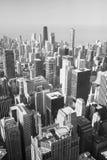 Horizonte de Chicago en blanco y negro fotos de archivo libres de regalías