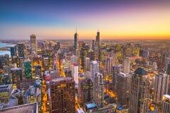Horizonte de Chicago, Illinois, los E.E.U.U. imagen de archivo libre de regalías