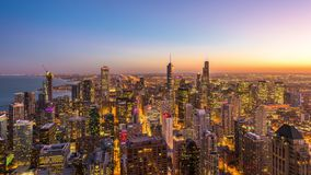 Horizonte de Chicago, Illinois, los E.E.U.U. almacen de metraje de vídeo