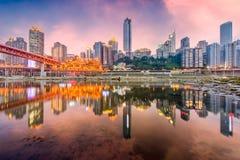 Horizonte de Chongqing, China fotografía de archivo libre de regalías