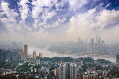 Horizonte de Chongqing, China Imagen de archivo