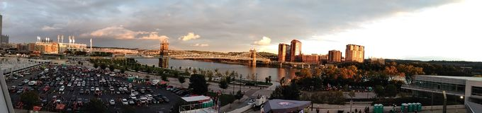 Horizonte de Cincinnati imagen de archivo