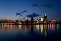 Horizonte de Cincinnati Fotos de archivo libres de regalías