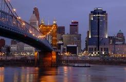 Horizonte de Cincinnati, Ohio. foto de archivo libre de regalías