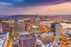Horizonte de Cincinnati, Ohio, los E.E.U.U. imágenes de archivo libres de regalías