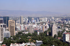 Horizonte de Ciudad de México Imagen de archivo libre de regalías