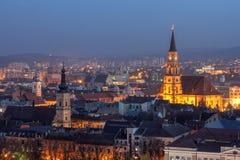 Horizonte de Cluj-Napoca, Rumania Foto de archivo libre de regalías
