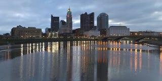 Horizonte de Columbus, Ohio Fotografía de archivo
