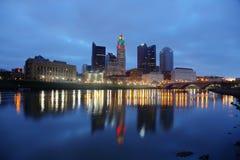 Horizonte de Columbus, Ohio Foto de archivo libre de regalías