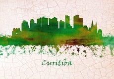 Horizonte de Curitiba el Brasil stock de ilustración