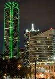 Horizonte de Dallas (noche) Fotografía de archivo