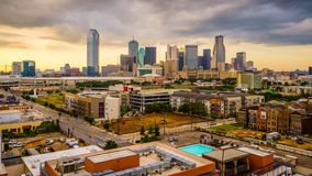 Horizonte de Dallas, Tejas, los E.E.U.U. almacen de video