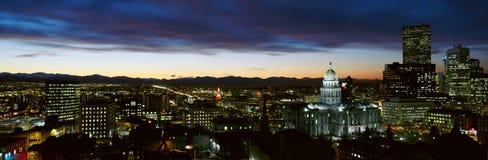 Horizonte de Denver Colorado Fotos de archivo libres de regalías