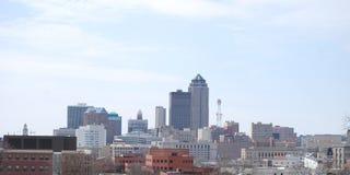 Horizonte de Des Moines Fotos de archivo